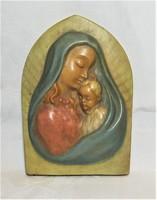 Madonna Gyermekével -  Kerámia falikép - Falídísz
