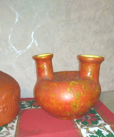 Tófej kerámia váza