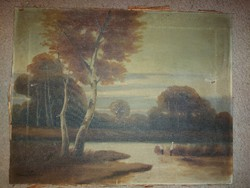 Kassai Varga István festmény, olaj, vászon, 38x48 cm