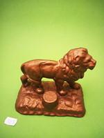 Bronzirozott öntöttvas oroszlán