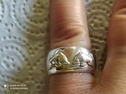 Vastag tömör ezüst gyűrű