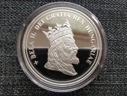Királyi Koronák Utánveretben II. Béla 5 korona .999 ezüst PP (id23472)