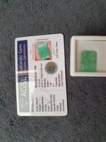 Columbiai smaragd fazettázott drágakő certivel  15.1 Ct
