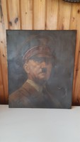 RITKA! Adolf Hitler portré, 50x60cm, Vászon!