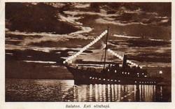 Ba 145 Körkép a Balaton vidékről a XX.század közepén .Esti sétahajó (Karinger fotó)