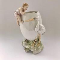 1898-(KVE) Karl Volkstedt ENS RITKA Antik porcelán váza