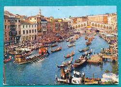 Olaszország,Velence,Canal Grande,használt képeslap,1974
