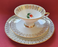 Winterling Röslau Bavaria porcelán reggeliző szett 3 részes (csésze, csészealj, kistányér)