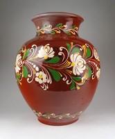 1E954 Nagyméretű vásárhelyi kerámia váza 36 cm