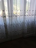 Velencei antik gyönyörű 4 szárnyú tört fehér függöny 3 m magas reklám ár 6  e.