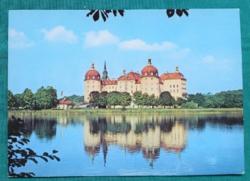 Kastély, Moritzburg, Németország,postatiszta képeslap