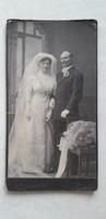 Antik esküvői fotó Belocerkovszky A. Kiskunfélegyháza műtermi fénykép menyasszony vőlegény kép