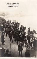 1917 tengerész temetési menet, tengerészek, temetési kocsi, képeslap méret, ritka!