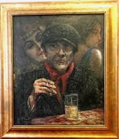 Geiger Richárd (1870 - 1945):Szenvedélyek?Párizs,1928?, olaj-karton