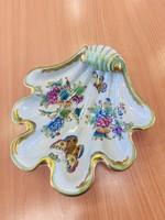 Gyönyörű antik Viktória mintás Herendi kagyló tál !