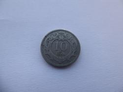 10 Heller 1894  - nikkel pénzérme