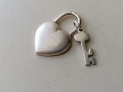 Ezüst szív és kulcs medál 925 (2db)