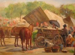 GARANTÁLTAN EREDETI EGERVÁRY POTEMKIN ÁGOST / 1858-1930/ FESTMÉNY : PIACI FORGATAG