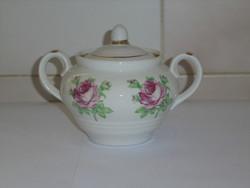 Retro, régi orosz porcelán cukortartó ( rózsás )