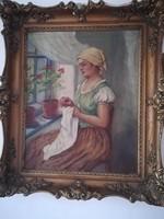 Zilahi Pogány Lajos olajvászon szignált festmény