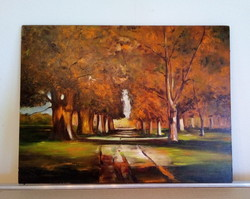 Festmény, Őszi sétány