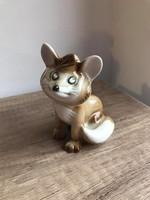 Zsolnay porcelán vuk róka