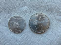 Kanada ezüst 5 - 10 dollár 1976 LOT ! 24.3 gramm + 48.6 gramm 925 - ös ezüst 02