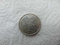 Portugália - Mozambik ezüst 20 escudo 1955 10 gramm