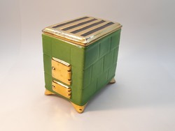 Faience stove or sparhelt, covered storage, tobacco holder