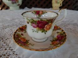 """ROYAL ALBERT """" Old Country Roses """" Angol rózsás csontporcelán teás szett"""