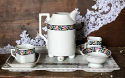 Victoria cseh porcelán, két személyes kávés készlet