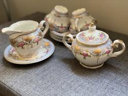 Gyönyörű motívumok -  angol porcelán készlet -  teás - és kevés porcelán