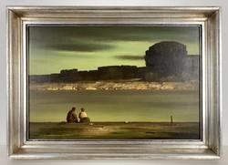 Teljes hagyaték aukción! Ifj. Benedek Jenő (1939-2019) olaj,farost festmény Gyönyörű 1 Ft-ról!