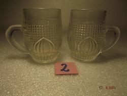 Retro régi gyerek üvegpohár pár  ---2--- típus