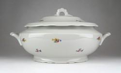 1F029 Régi Zsolnay porcelán levesestál 23 x 34.5 cm