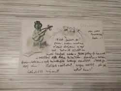 Antik Üdvözlő képeslap. (1899)