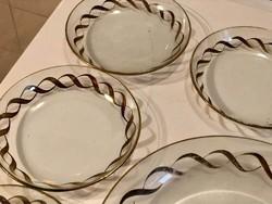 Üvegtányér készlet -6 darabos