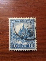 1926. Pengő-Fillér 40 Fillér Kék 447. ssz. Használt Bélyeg