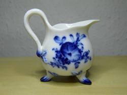Meisseni porcelán virág mintás kis tejes kancsó kiöntő 19. századi hibátlan állapotban!