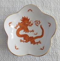 Meisseni porcelán tál Vörös sárkány mintával, hibátlan!