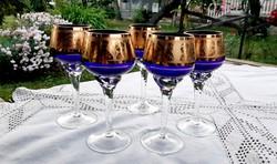 Bohemia királykék pohár készlet