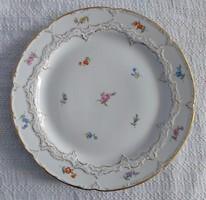 Meisseni porcelán tál virágos mintával, nagy méretű hibátlan!