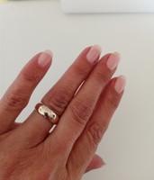 8 karátos, igazán szép, széles karikagyűrű