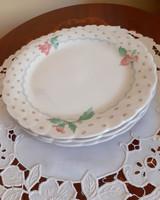 3 db süteményes tányér. 19,5 cm