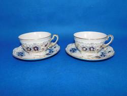Zsolnay Búza virág mintás teás csésze + alj pár