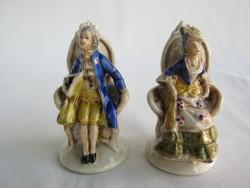 Altwien porcelán barokk pár