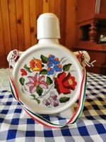 18 cm magas Kalocsai kézzel festett porcelán kulacs