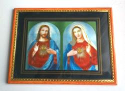 Fali és asztali szentkép, Jézus és Szűz Mária