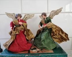 2 db barokk angyal karácsonyi dekoráció