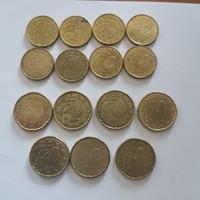 Spanyol Euró 10 és 20 centesek 15db